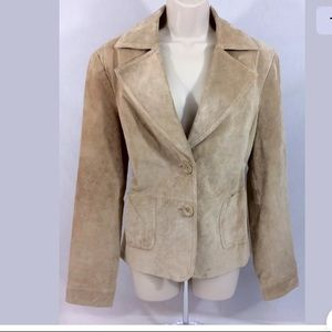Mossimo Neige suede leather dressy blazer M EUC